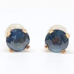1/2 CTW Blue Sapphire Stud Earrings 14k Gold
